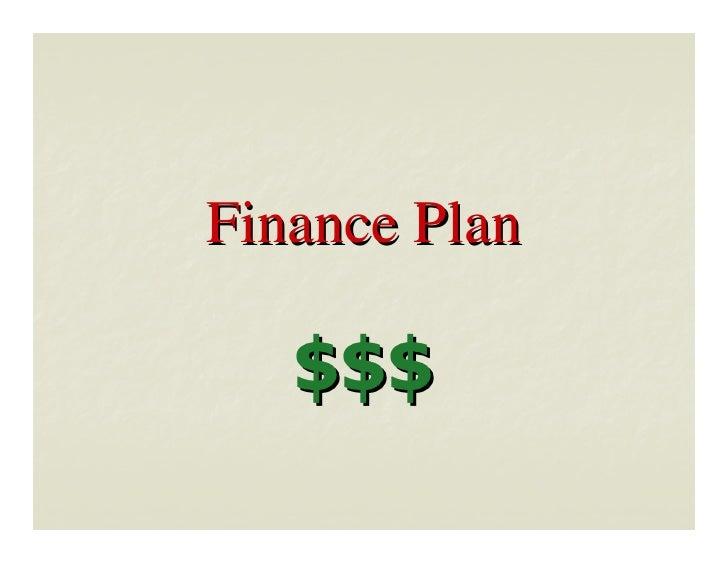 Finance Plan     $$$