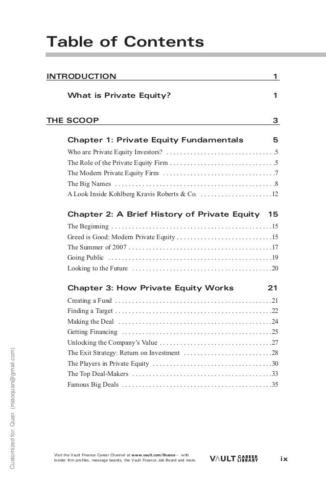 Career Guide Private Equity - Fresh private equity term sheet example design