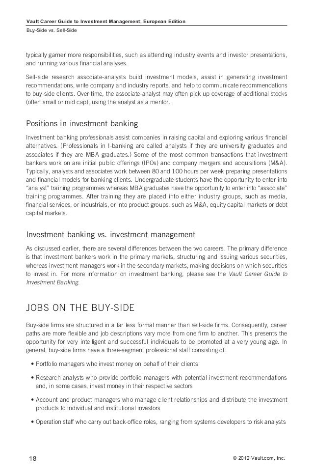 Career Guide Investment Management
