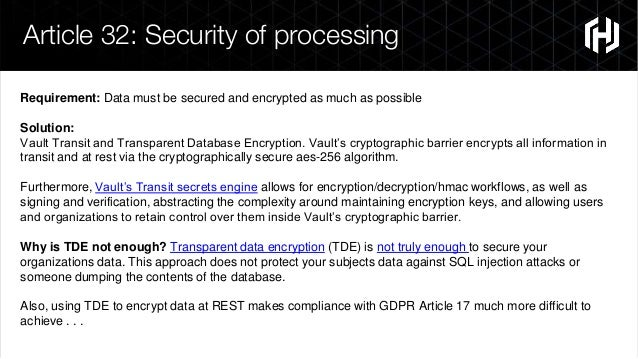 Solutions Engineering Webinar: HashiCorp Vault Features Built for GDP…