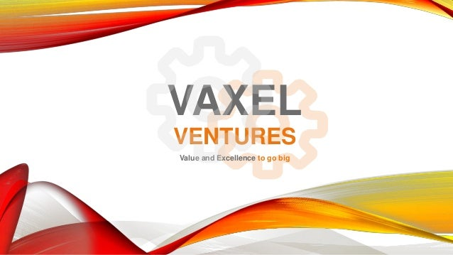 VAXEL VENTURES Value and Excellence to go big
