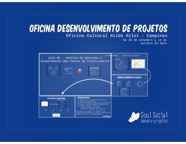 Oficina de Projetos  - Aula 05 - Análise da Operação e Fontes de Financiamento