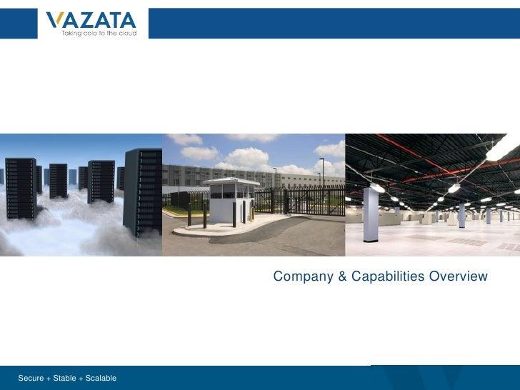 Horizon Data Center Solutions: Company & Capabilities Overview Company & Capabilities Overview