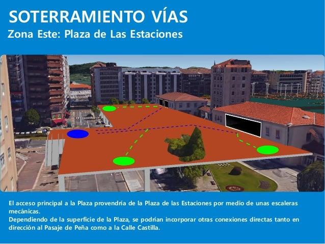 SOTERRAMIENTO VÍAS Zona Este: Plaza de Las Estaciones El acceso principal a la Plaza provendría de la Plaza de las Estacio...