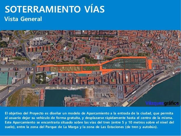 SOTERRAMIENTO VÍAS Vista General El objetivo del Proyecto es diseñar un modelo de Aparcamiento a la entrada de la ciudad, ...
