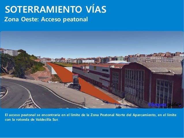 SOTERRAMIENTO VÍAS Zona Oeste: Acceso peatonal El acceso peatonal se encontraría en el límite de la Zona Peatonal Norte de...