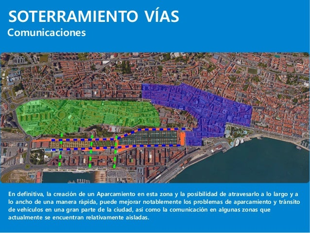 SOTERRAMIENTO VÍAS Comunicaciones En definitiva, la creación de un Aparcamiento en esta zona y la posibilidad de atravesar...