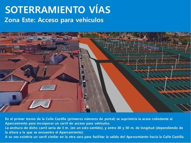 SOTERRAMIENTO VÍAS Zona Este: Acceso para vehículos En el primer tramo de la Calle Castilla (primeros números de portal) s...