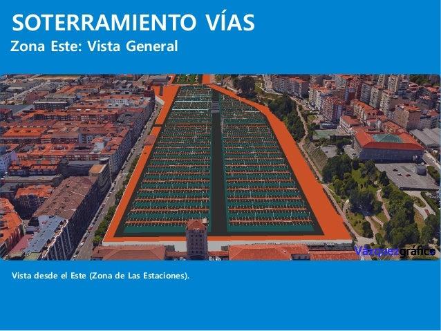 SOTERRAMIENTO VÍAS Zona Este: Vista General Vista desde el Este (Zona de Las Estaciones).