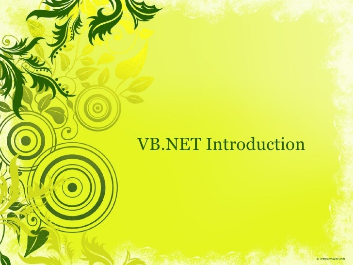 VB.NET Introduction