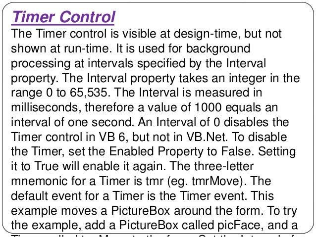 VISUAL BASIC 6 - CONTROLS AND DECLARATIONS