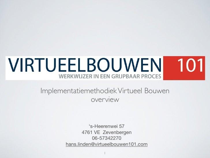 Implementatiemethodiek Virtueel Bouwen               overview                     's-Heerenwei 57                4761 VE Z...