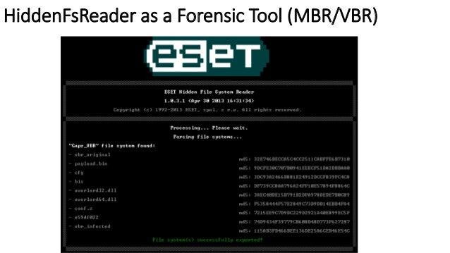 HiddenFsReader as a Forensic Tool (MBR/VBR)