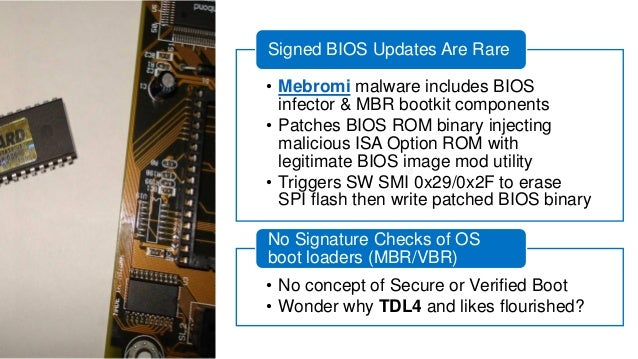 UEFI BIOS Firmware  SEC  S-CRTM; Init caches/MTRRs; Cache-as-RAM (NEM); Recovery; TPM Init  Pre-EFI Init  (PEI)  Driver Ex...