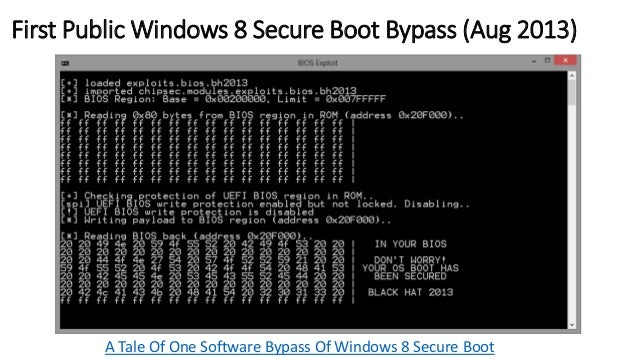 BIOS Attack Surface  SPI Flash  Protection  System  FW/BIOS  BIOS  Update  SMRAM  Protection  Hardware  Config.  SMI  Hand...