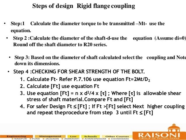 Coupling and flange coupling and its design