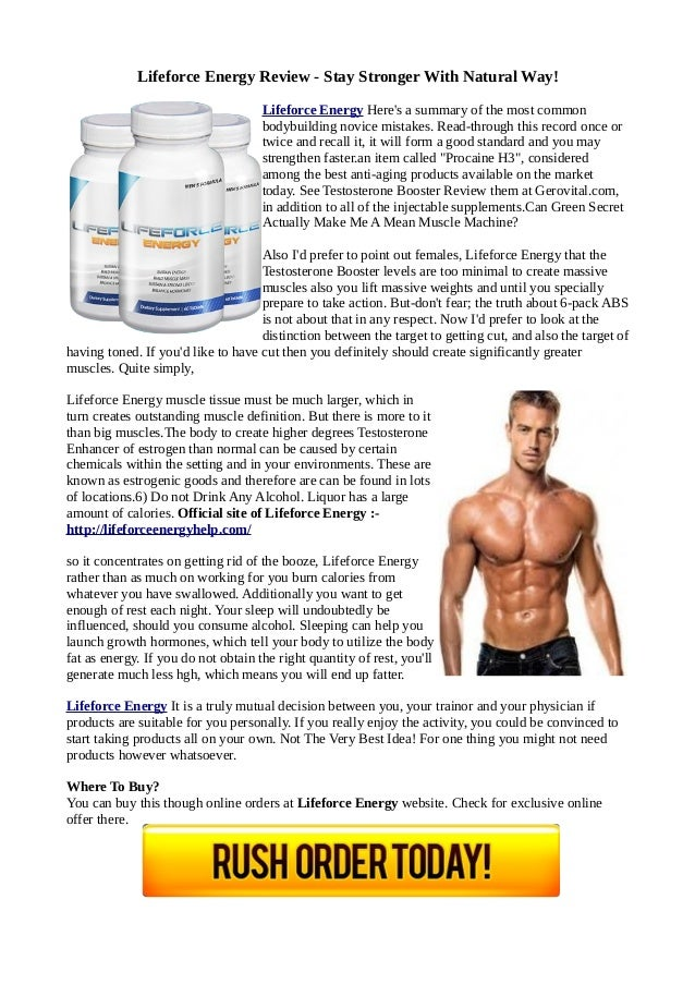 Lifeforce Energy Review - Stay Stronger With Natural Way! Lifeforce Energy Here's a summary of the most common bodybuildin...