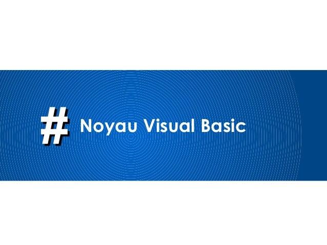 ## Noyau Visual Basic