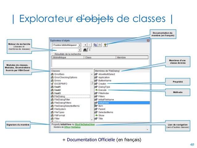 49 | Explorateur d'objets de classes | Moteur de recherche (classes et membres de classes) Modules de classes, Modules, En...