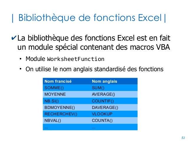51 | Bibliothèque de fonctions Excel| ✔La bibliothèque des fonctions Excel est en fait un module spécial contenant des mac...