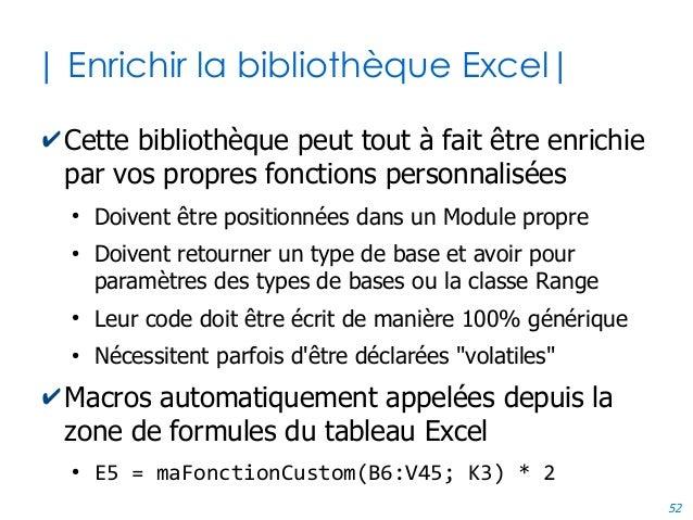 52 | Enrichir la bibliothèque Excel| ✔Cette bibliothèque peut tout à fait être enrichie par vos propres fonctions personna...