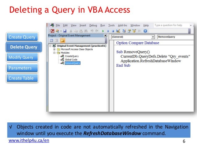 Using Queries within Microsoft Access VBA