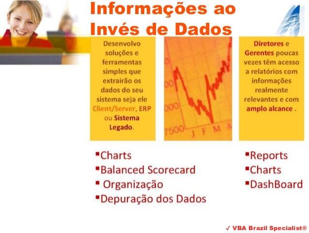 ✔ VBA Brazil Specialist® Informações ao Invés de Dados