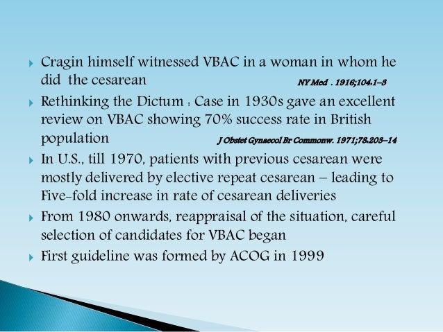 Vaginal Birth After Cesarean Delivery Slide 3