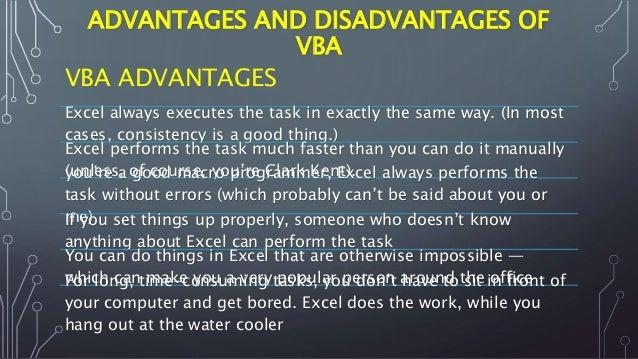 Advantages od excel