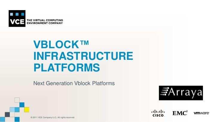 VBLOCK™ Infrastructure Platforms<br />Next Generation Vblock Platforms <br />