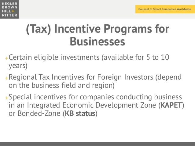 tax incentives in singapore Singapore and a number of other asean countries offer favorable tax incentive schemes and concessions, aimed at attracting foreign investment.
