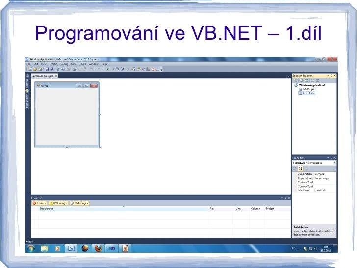 Programování ve VB.NET – 1.díl