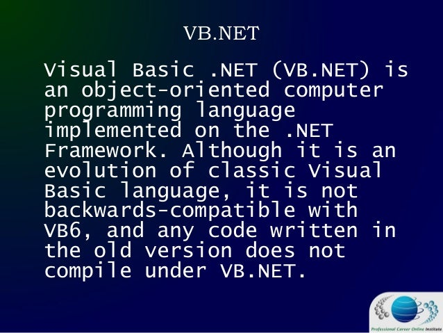 Visual Basic IDE Introduction