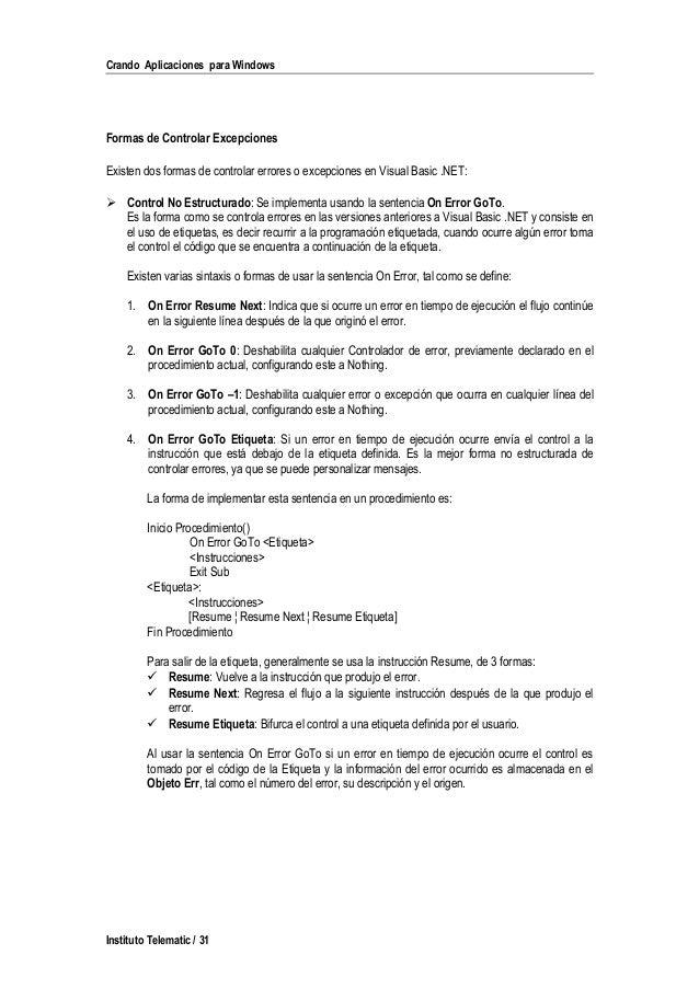 best vb6 on error resume next gallery simple resume office