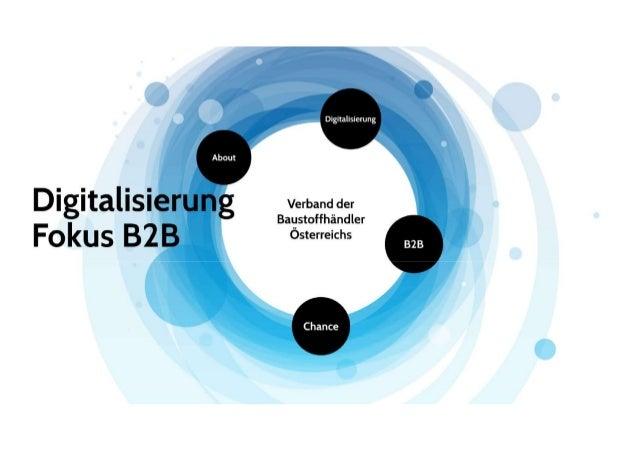 Keynote f. VBÖ: Digitalisierung mit Fokus B2B - Nov 2018