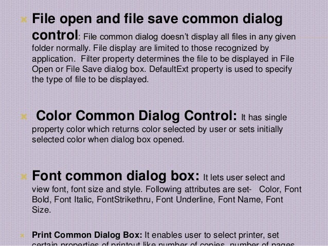 Visual Basic Controls ppt