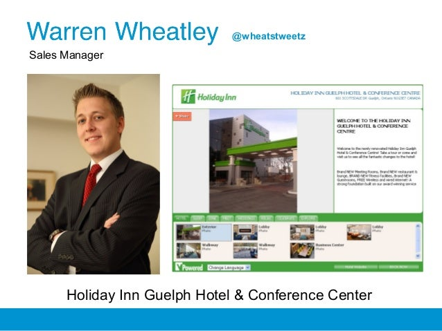 Sales Manager Holiday Inn Guelph Hotel & Conference Center @wheatstweetz