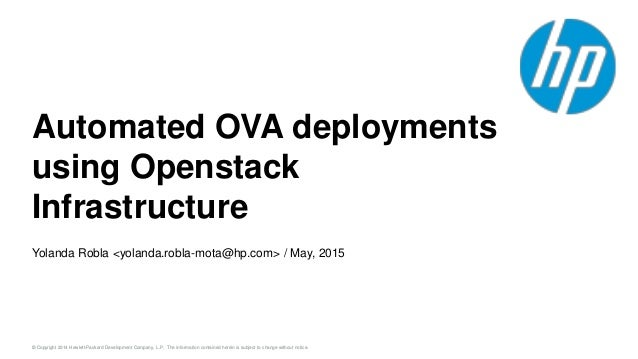 Automated OVA deployments using OpenStack infrastructure