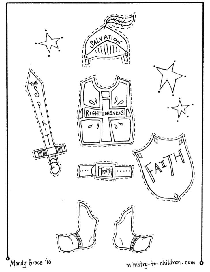 Vbs coloring pages armor of-god-1