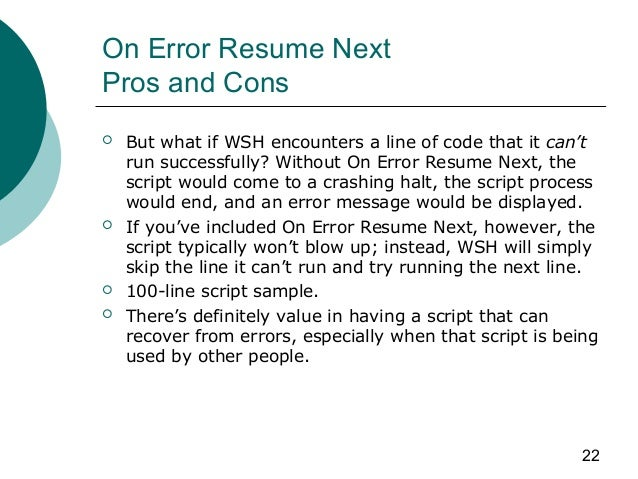 excel visual basic on error resume next definekryptonite