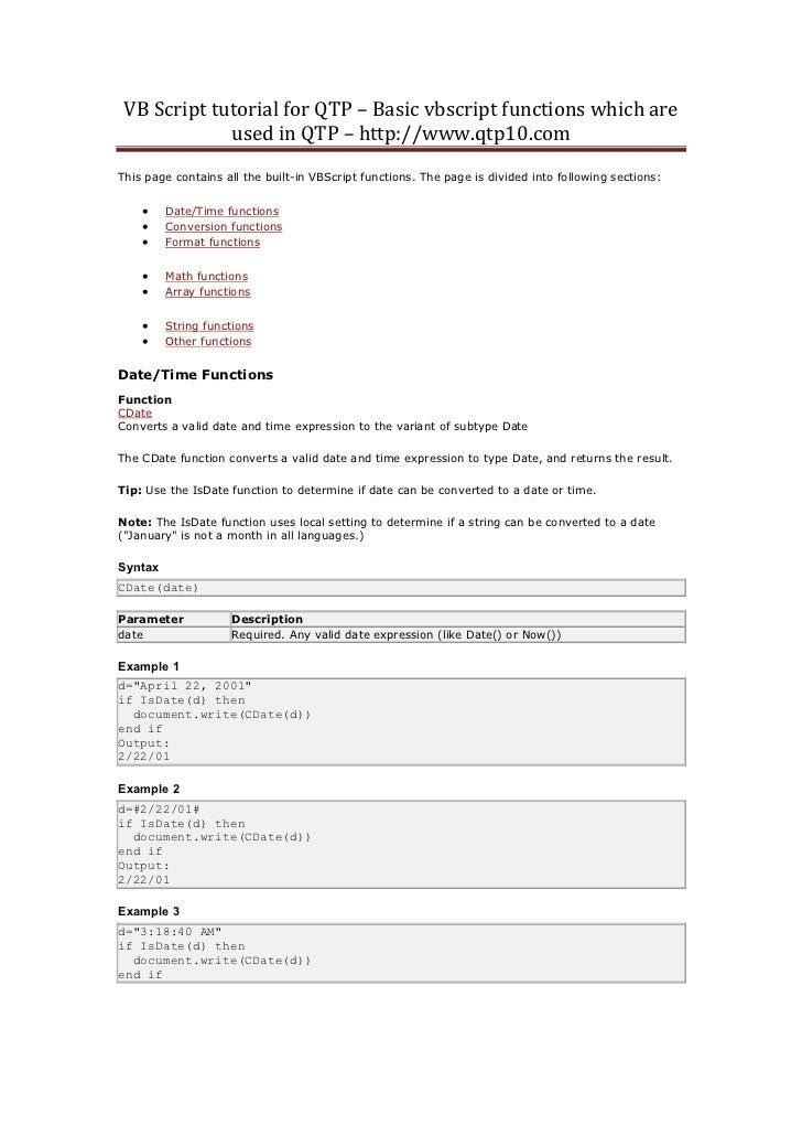 Vb script tutorial for qtp[1]