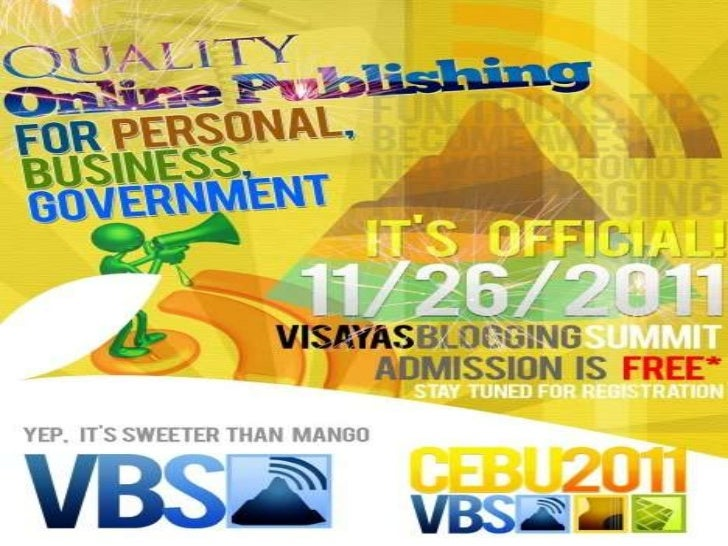 Privacy Policy · Terms of Use · Copyright © 2011 · Visayas Blogging Summit 2011 · Cebu City, Philippines · Organized by Ce...