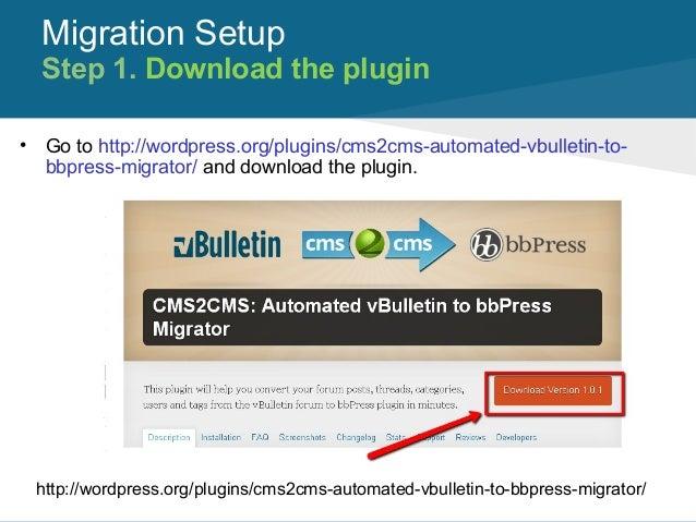 CMS2CMS: Automated vBulletin to bbPress Migrator