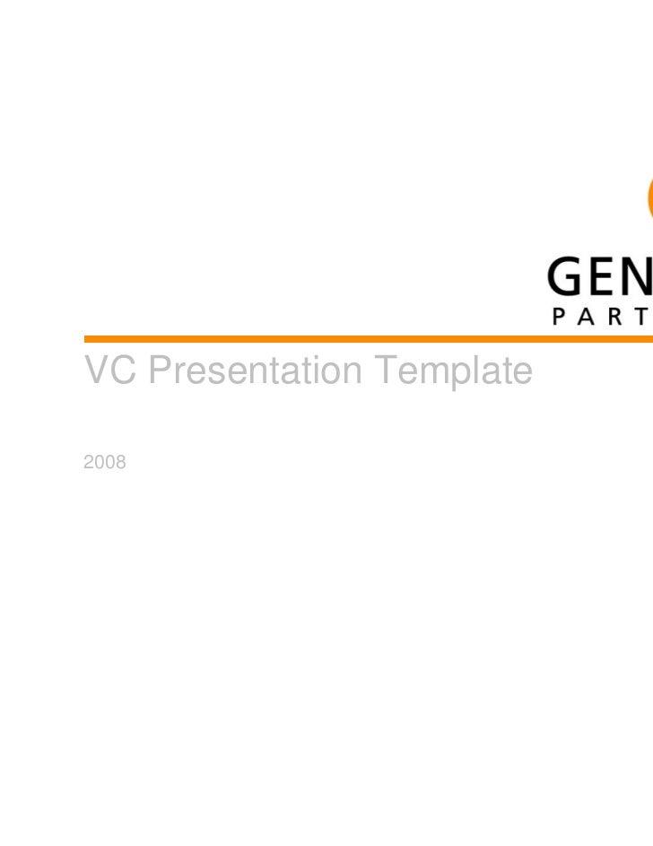 VC Presentation Template2008