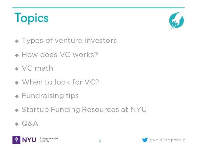 When & How to Raise Venture Capital Slide 2