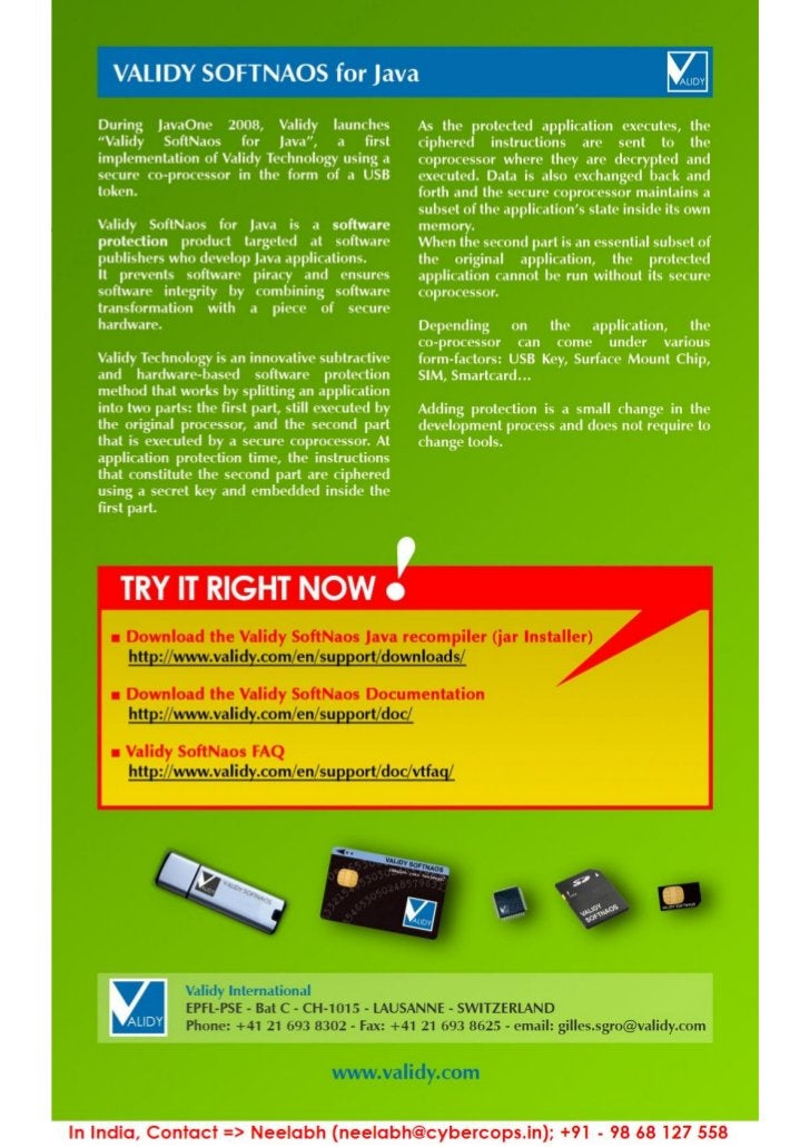 Validy SoftNaos Brochure