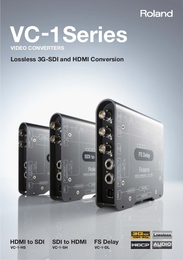 Lossless 3G-SDI and HDMI Conversion SeriesVIDEO CONVERTERS