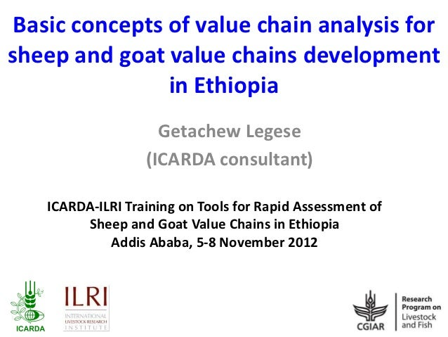 Basic concepts of value chain analysis forsheep and goat value chains development                in Ethiopia              ...
