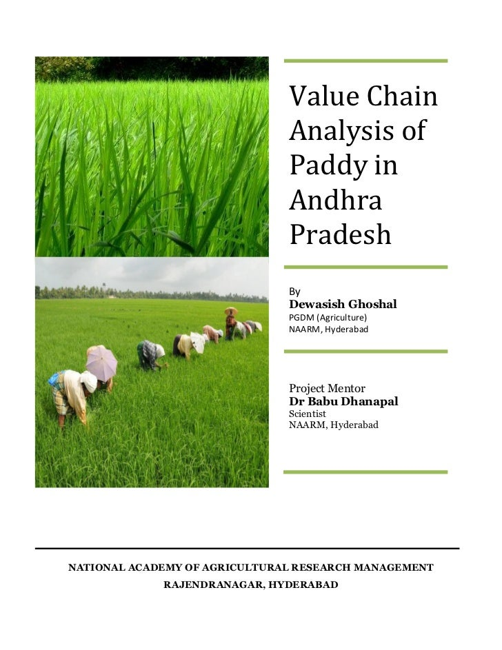 Value Chain                               Analysis of                               Paddy in                              ...