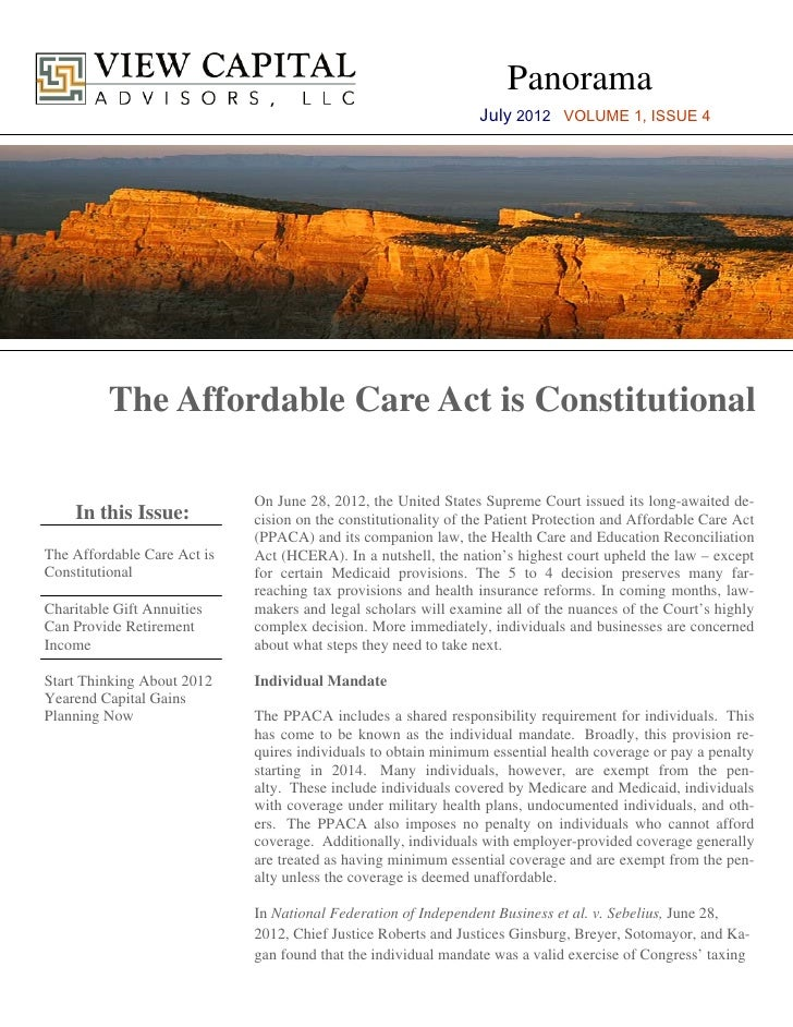 Panorama                                                                 July 2012 VOLUME 1, ISSUE 4          The Affordab...